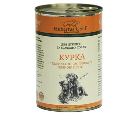 Hubertus Gold Влажный корм для щенков, курица с картофелем и морковью