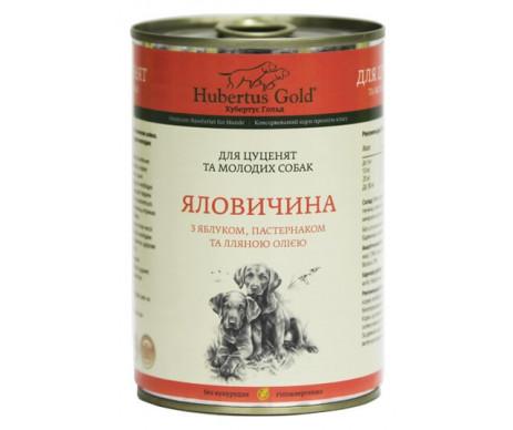 Hubertus Gold Dog Puppy Beef Apple Parsnip Wet