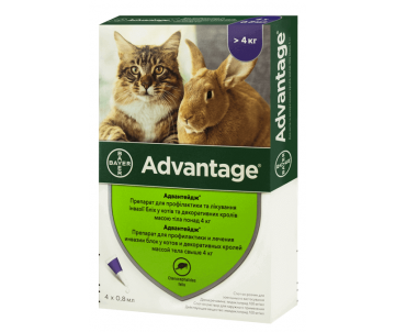 Bayer Advantage капли от блох для кошек и кролей