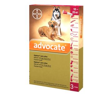 Bayer Advocate капли на холку против паразитов для собак