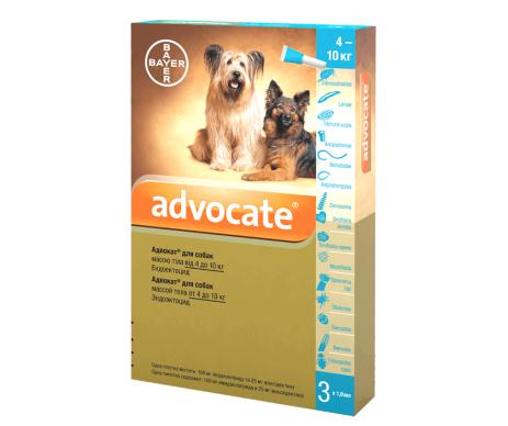 Advocate капли на холку против паразитов для собак