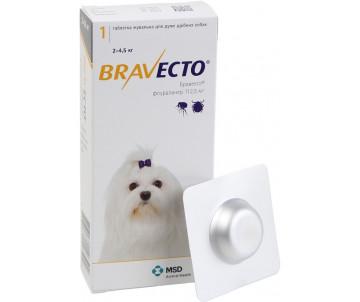 Bravecto таблетка от блох и клещей для собак
