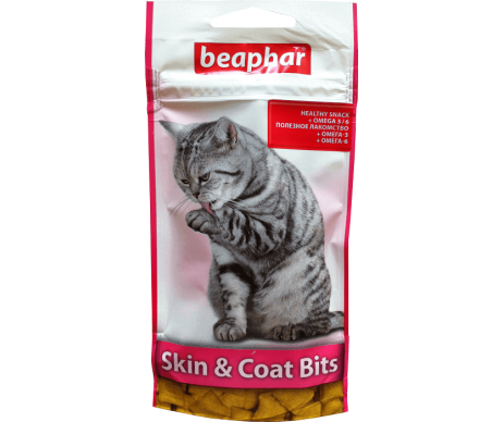 Beaphar Skin & Coat Bits Подушечки для здоровой кожи и шерсти у кошек