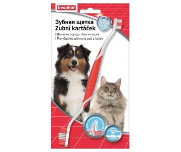 Beaphar Toothbrush Двусторонняя зубная щетка для котов и собак