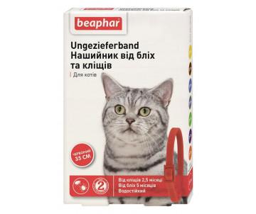 Beaphar Red Ошейник против блох и клещей для кошек красный
