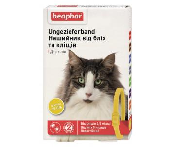 Beaphar Yellow Ошейник против блох и клещей для кошек желтый
