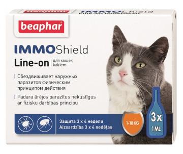 Beaphar IMMO SHIELD Противопаразитарные капли для котов и котят