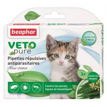 Beaphar Bio Spot On Kitten Капли от блох и клещей для котят 3 пипетки