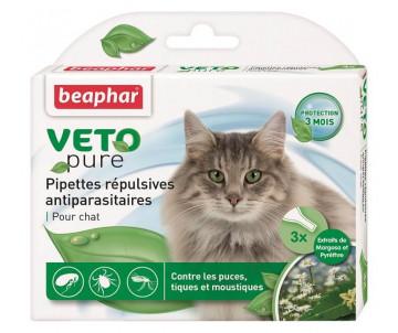 Beaphar Bio Spot On Капли от блох и клещей для кошек 3 пипетки