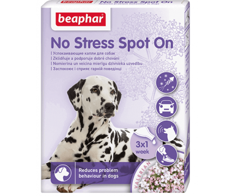 Beaphar NO STRESS SPOT ON DOG Антистресс капли для собак 3 пипетки