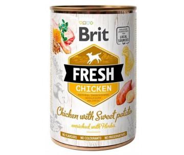Brit Fresh Dog Adult Chicken Sweet Potato Wet