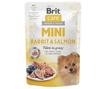 Brit Care Dog Adult Mini Rabbit Salmon Fillets In Gravy pouch