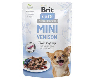 Brit Care Dog Adult Mini Venison Fillets In Gravy pouch