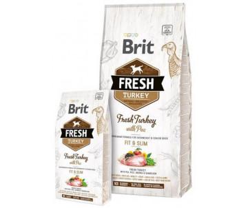 Brit Fresh Dog Adult Turkey Pea Light Fit Slim