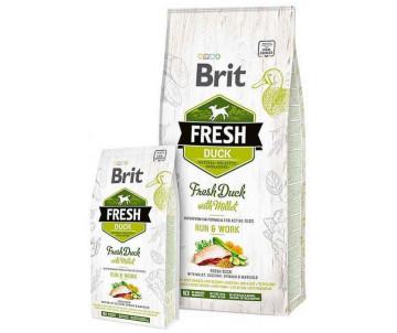 Brit Fresh Dog Adult Duck Millet Active Run Work