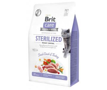 Brit Care GF Cat Adult Sterilised Weight Control Duck Turkey