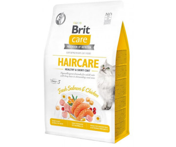 Brit Care GF Cat Adult Haircare Healthy Shiny Coat Salmon Chicken