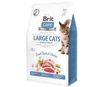 Brit Care GF Cat Adult Large Cats Power Vitality Duck Chicken