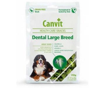 Canvit Dental Large Breed Лакомства для поддержания здоровья зубов у собак крупных пород