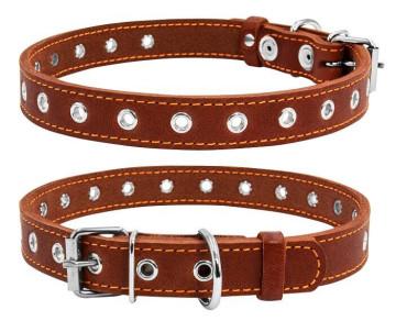 Collar Ошейник безразмерный, коричневый