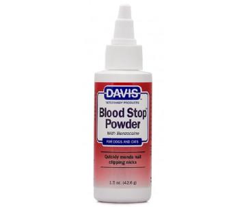 Davis Blood Stop Powder Кровоостанавливающий порошок с бензокаином для собак и котов