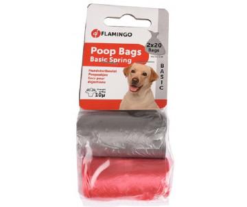 Flamingo Swifty Waste Bags Цветные пакеты для сбора фекалий собак, 2 рул.