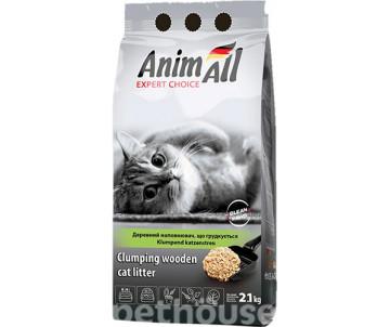 AnimAll древесный комкующийся наполнитель для кошачьего туалета