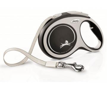 Flexi NEW COMFORT NEW BLACK Рулетка для собак Лента