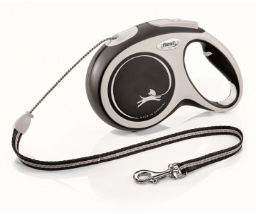 Flexi NEW COMFORT NEW BLACK Рулетка для собак Трос 8 м