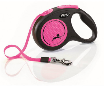 Flexi New Neon Pink Рулетка лента