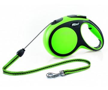 Flexi NEW COMFORT GREEN Рулетка для собак Трос 8 м