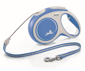 Flexi NEW COMFORT NEW BLUE Рулетка для собак Трос