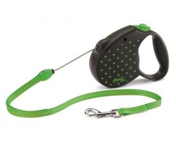 Flexi COLOR GREEN Рулетка для собак трос