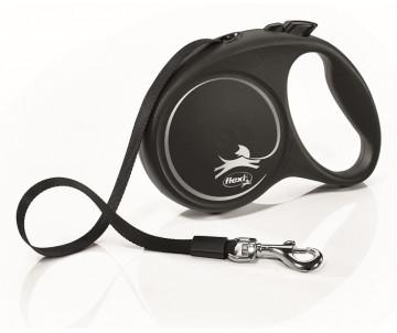 Flexi Black Design Silver Рулетка Лента