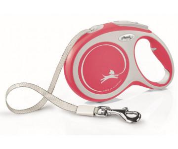 Flexi NEW COMFORT NEW RED Рулетка для собак Лента 8 м