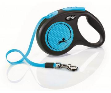 Flexi New Neon Blue Рулетка лента