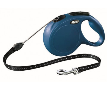 Flexi NEW CLASSIC Blue Рулетка Трос 8 м
