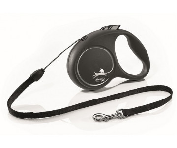 Flexi Black Design Silver Рулетка Трос