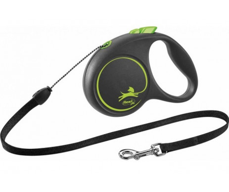Flexi Black Design Green Рулетка Трос