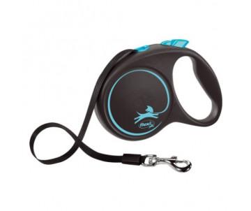 Flexi Black Design Blue Рулетка Лента