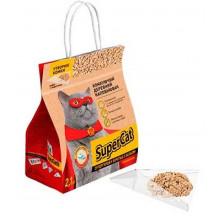 Super Cat древесный комкующийся наполнитель для кошачьего туалета