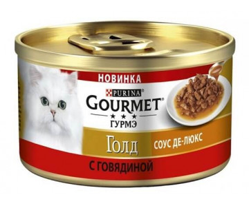 Gourmet Gold Sauces with beef Cat