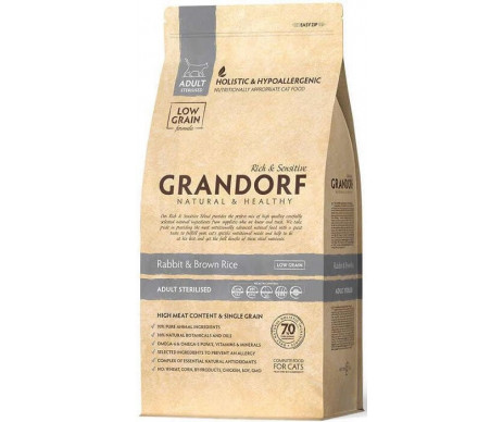 Grandorf Cat Adult Sterilized Rabbit Rice