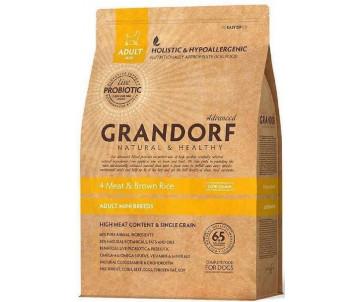Grandorf Dog Adult Mini Living Probiotics 4 Meat Brown Rice