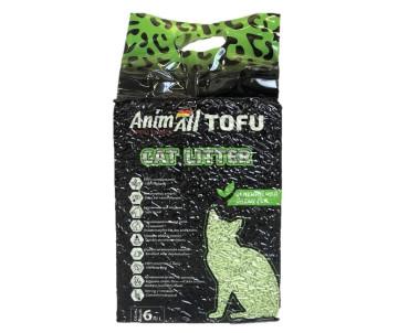 AnimAll Тоффу наполнитель для кошачьего туалета зеленый чай
