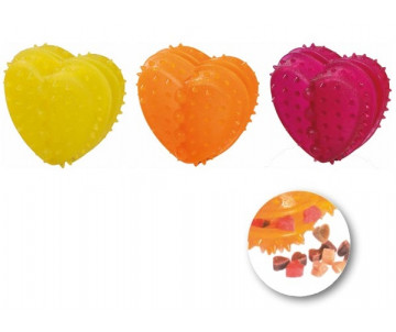 Flamingo Good4Fun Heart Refillable игрушка для собак в виде сердечка для лакомств, резина