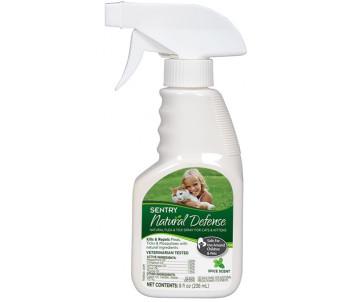 Sentry Natural Defense спрей от блох, клещей, комаров для котов и котят