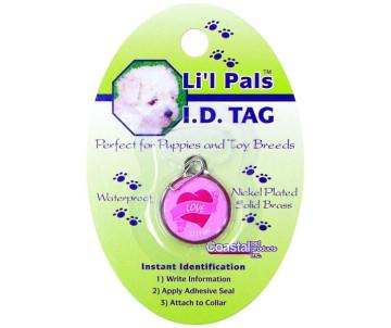"""Coastal Lit""""l Pals ID Tag брелок для адреса для собак и котов"""