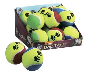 Flamingo Tennisball Fluo игрушка для собак, мяч теннис, резина