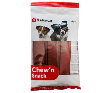 Flamingo Chew`n Stripes Beef лакомство для собак, говядина